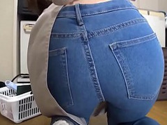 Ass, phat Ass, Rear, Slut Fucked Doggystyle, Japanese, Japanese Big Butt, Japanese Big Butt, Jeans, Adorable Japanese, Perfect Ass, Perfect Body Fuck