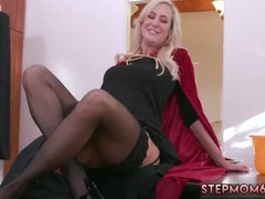 Threesome, Halloween, Hot Mom In Threesome, free Mom Porn, Perfect Body Amateur Sex, Surprise Threesome