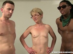 Gangbang, German Gilf, grandmother, Granny In Gangbang, Short Hair Solo