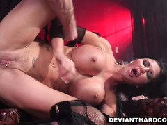 in Every Hole, Basement, BDSM, tied, fucked, Teen Lesbian Tied Up, toying, Deep Dildo, Perfect Body